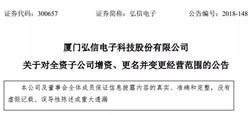 弘信电子拟对子公司弘宇科光电增资9500万元