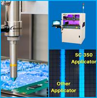 Nordson ASYMTEK 公司的 SC-350 选择性雾化涂覆头兼具高速及卓越的边界控制,适用于电子制造